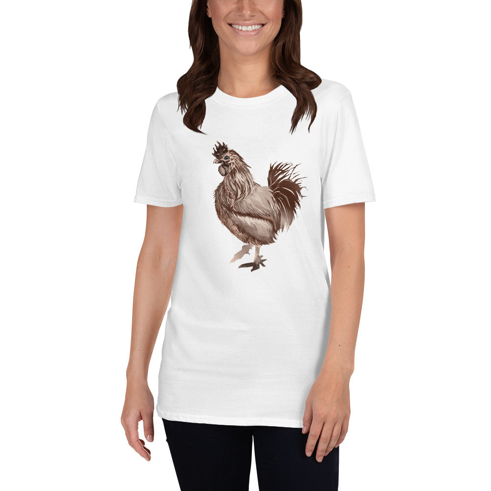 Rooster Strut (Brown) - Short-Sleeve Unisex T-Shirt