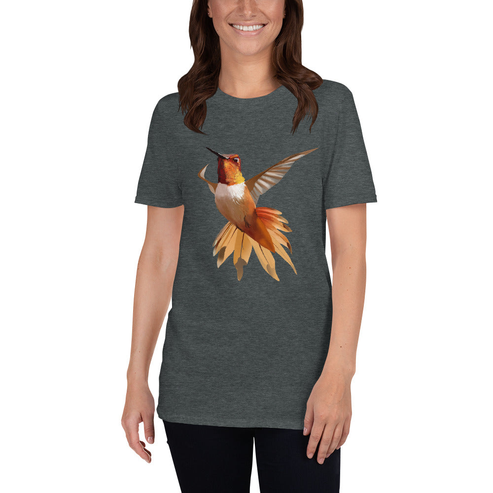 Hummingbird Orange - Short-Sleeve Unisex T-Shirt