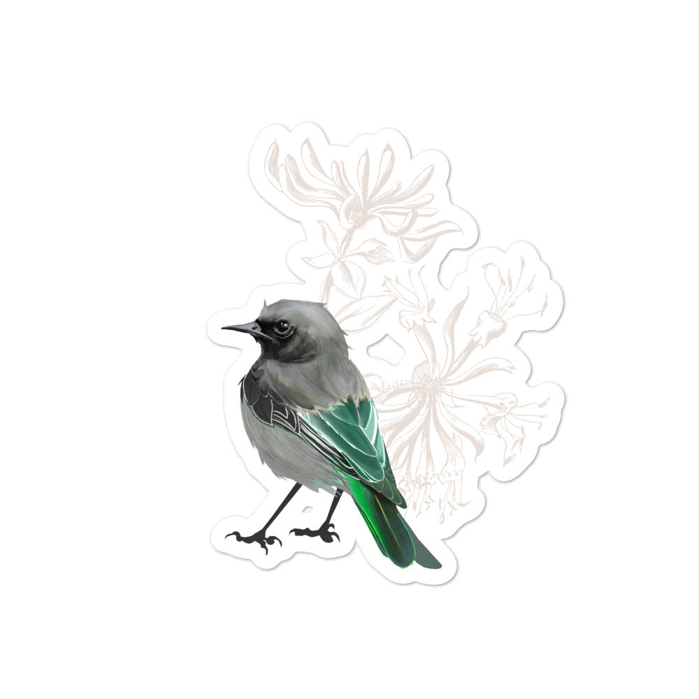 Junco Green Bird - Bubble-Free Stickers