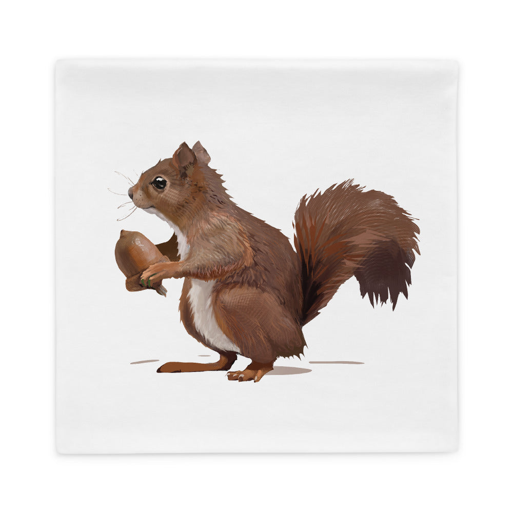 Squirrel (Brown) - Pillow Case