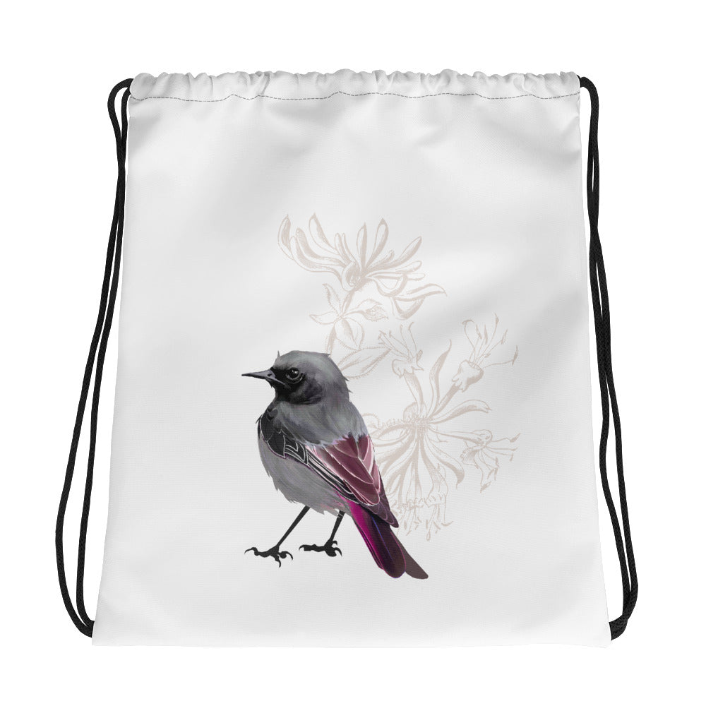 Junco Magenta Bird - Drawstring Bag