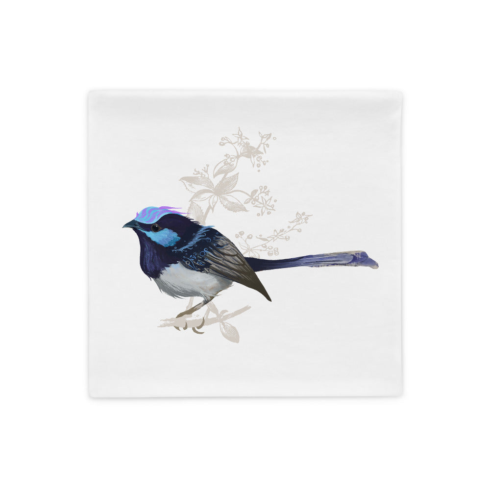 Forest Wren Blue Bird - Pillow Case
