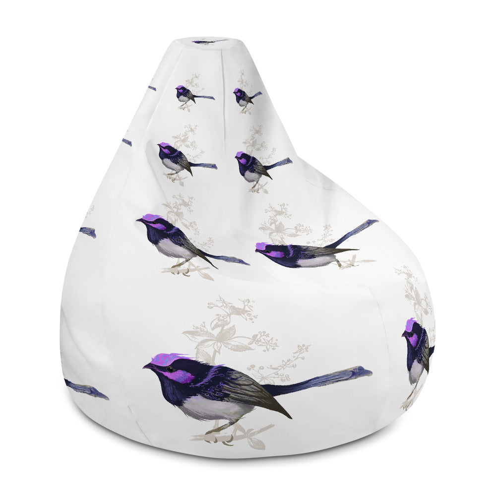 Forest Wren Magenta Bird - Bean Bag Chair w/ filling