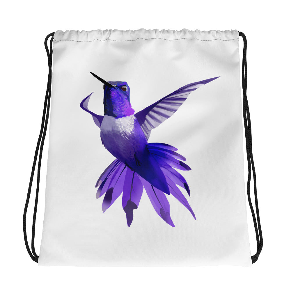 Hummingbird Violet - Drawstring Bag