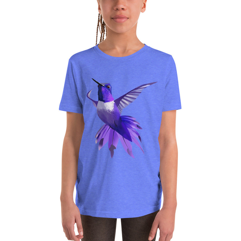 Hummingbird Violet - Youth Short Sleeve T-Shirt