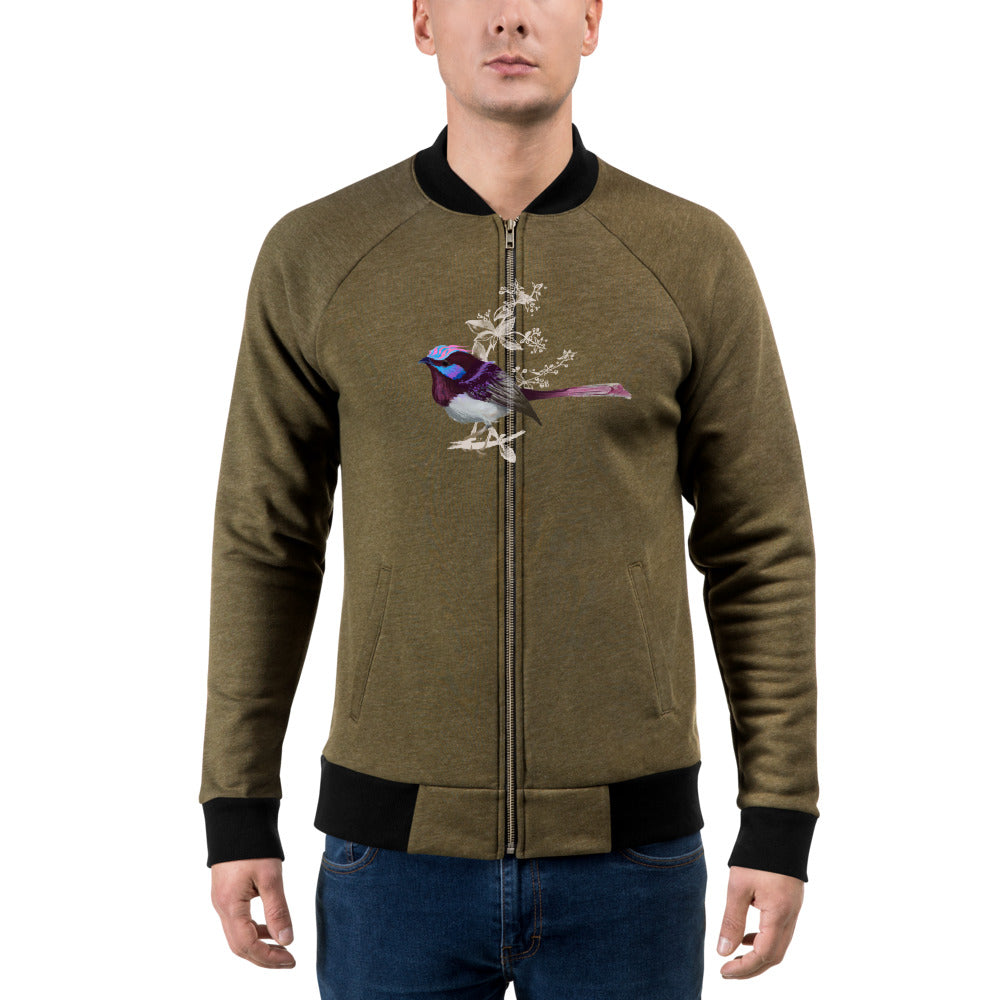 Forest Wren Pink Bird - Bomber Jacket