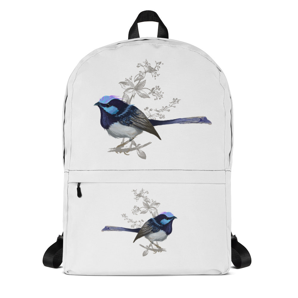 Forest Wren Blue Bird - Backpack