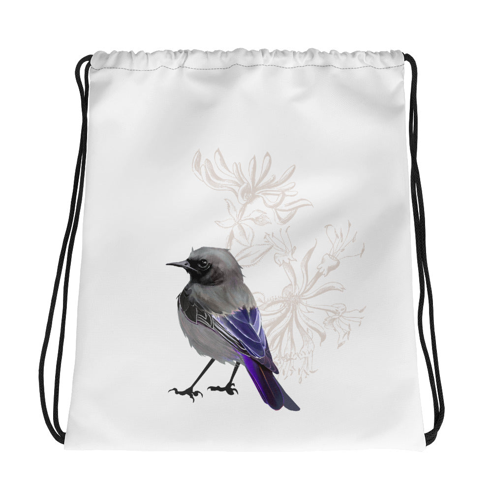 Junco Violet Bird - Drawstring Bag