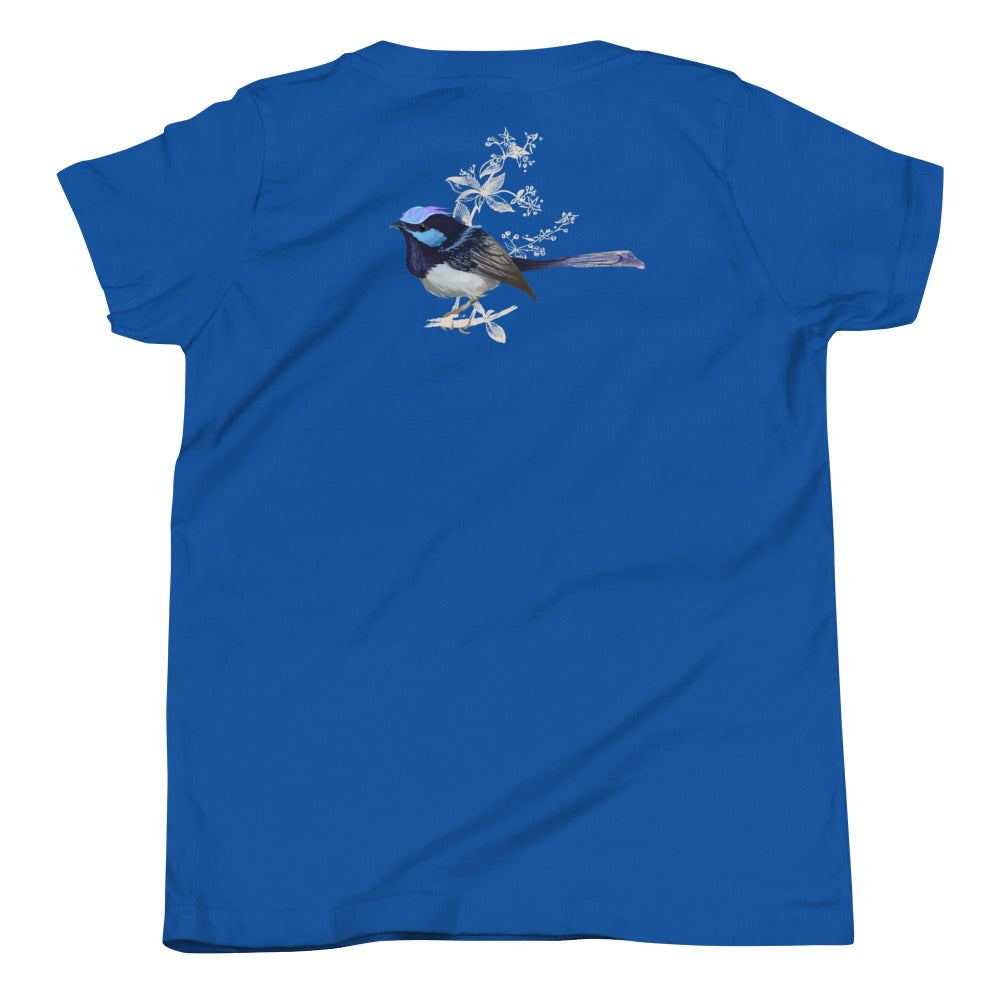 Forest Wren Blue Bird - Youth Short Sleeve T-Shirt