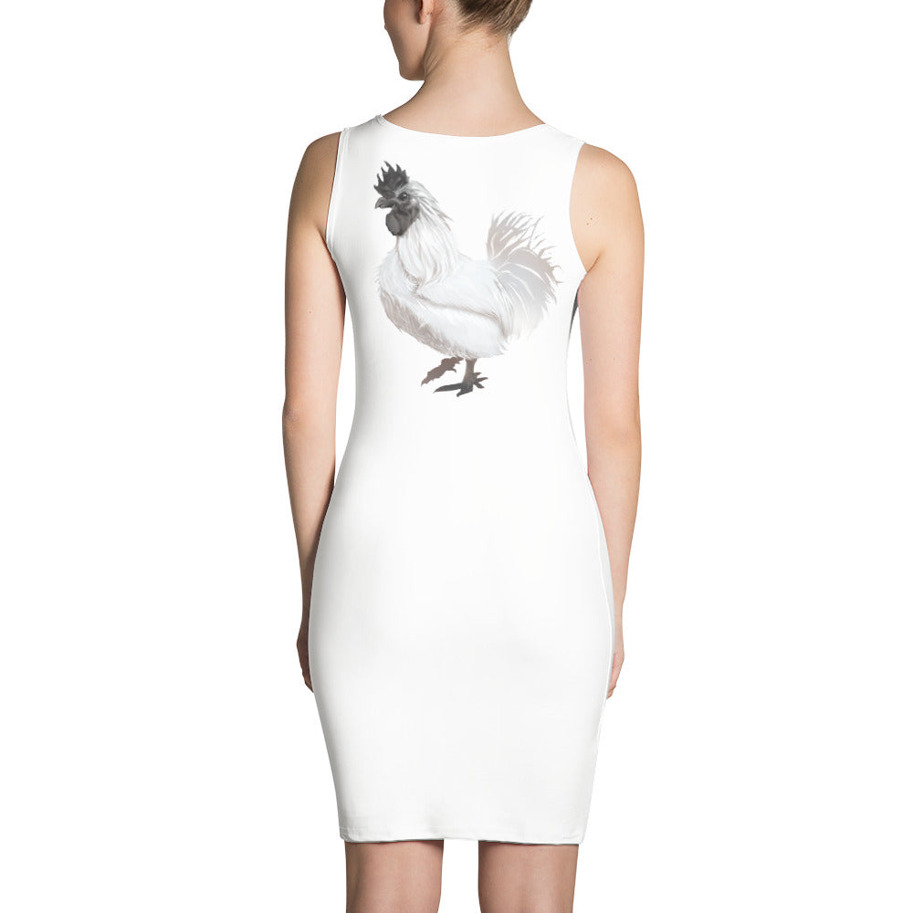 Rooster Strut (White) - Sublimation Cut & Sew Dress