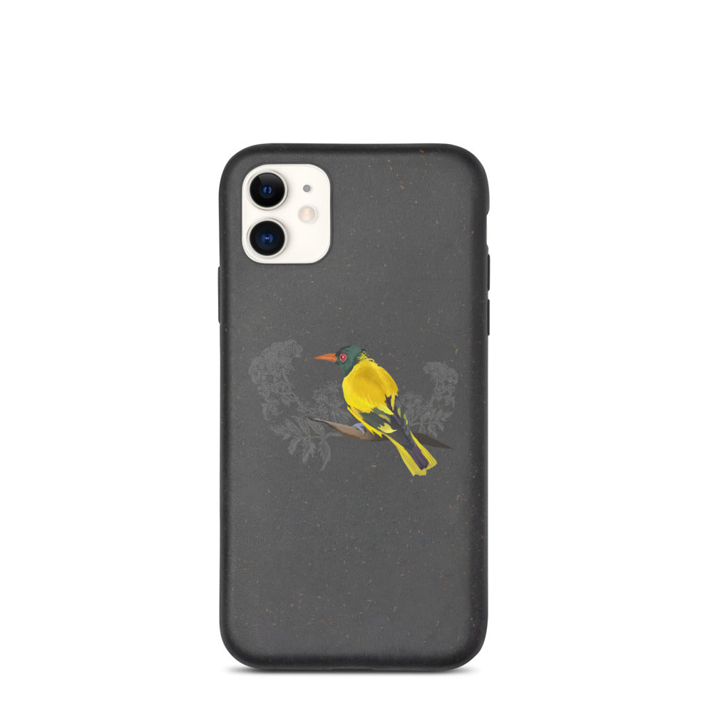 Black Hooded Oriole - Biodegradable phone case