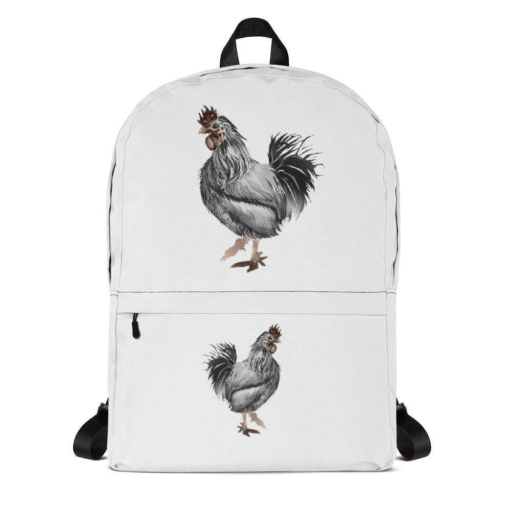 Rooster Strut (Silver) - Backpack