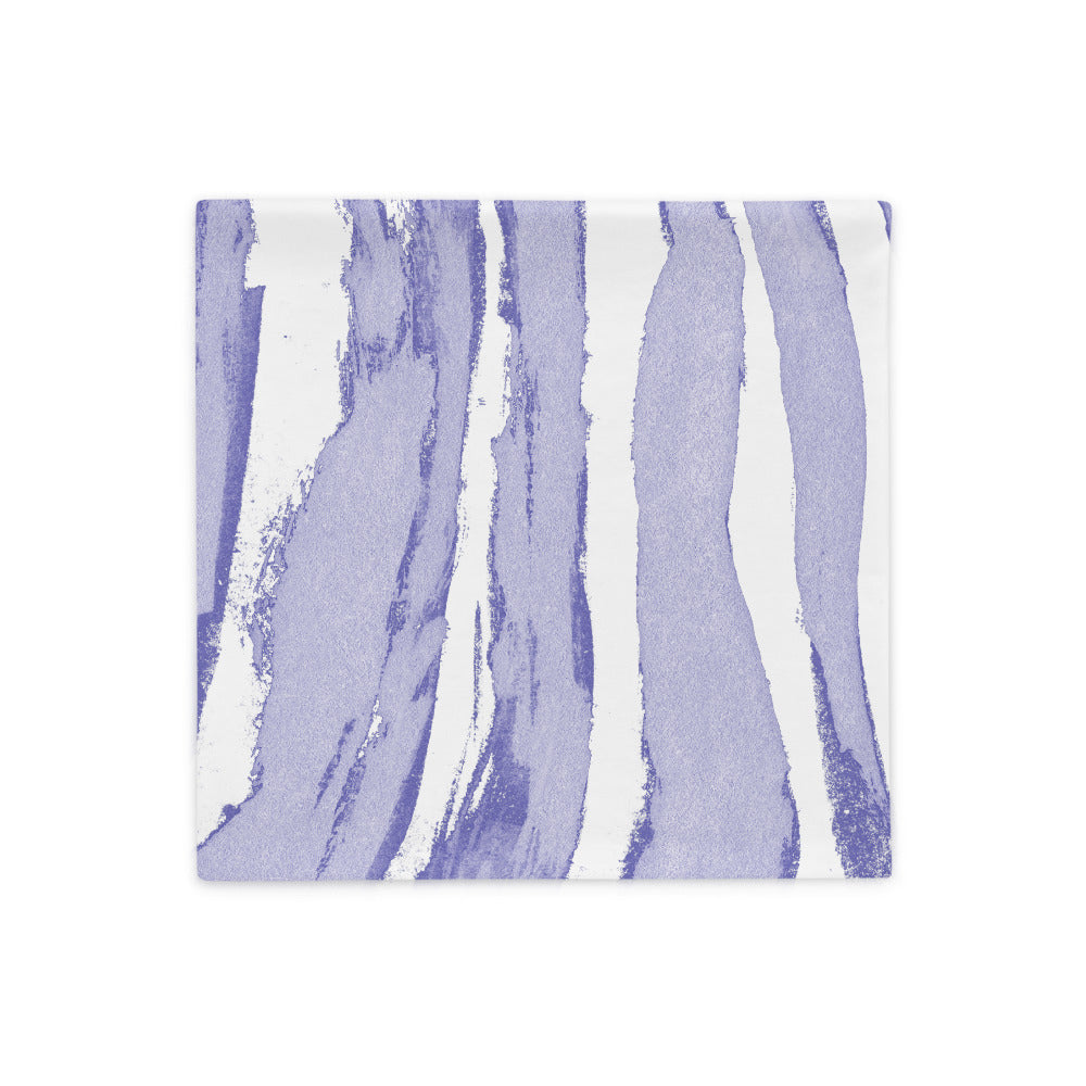 Zebra Stripes Lavender and White - Pillow Case