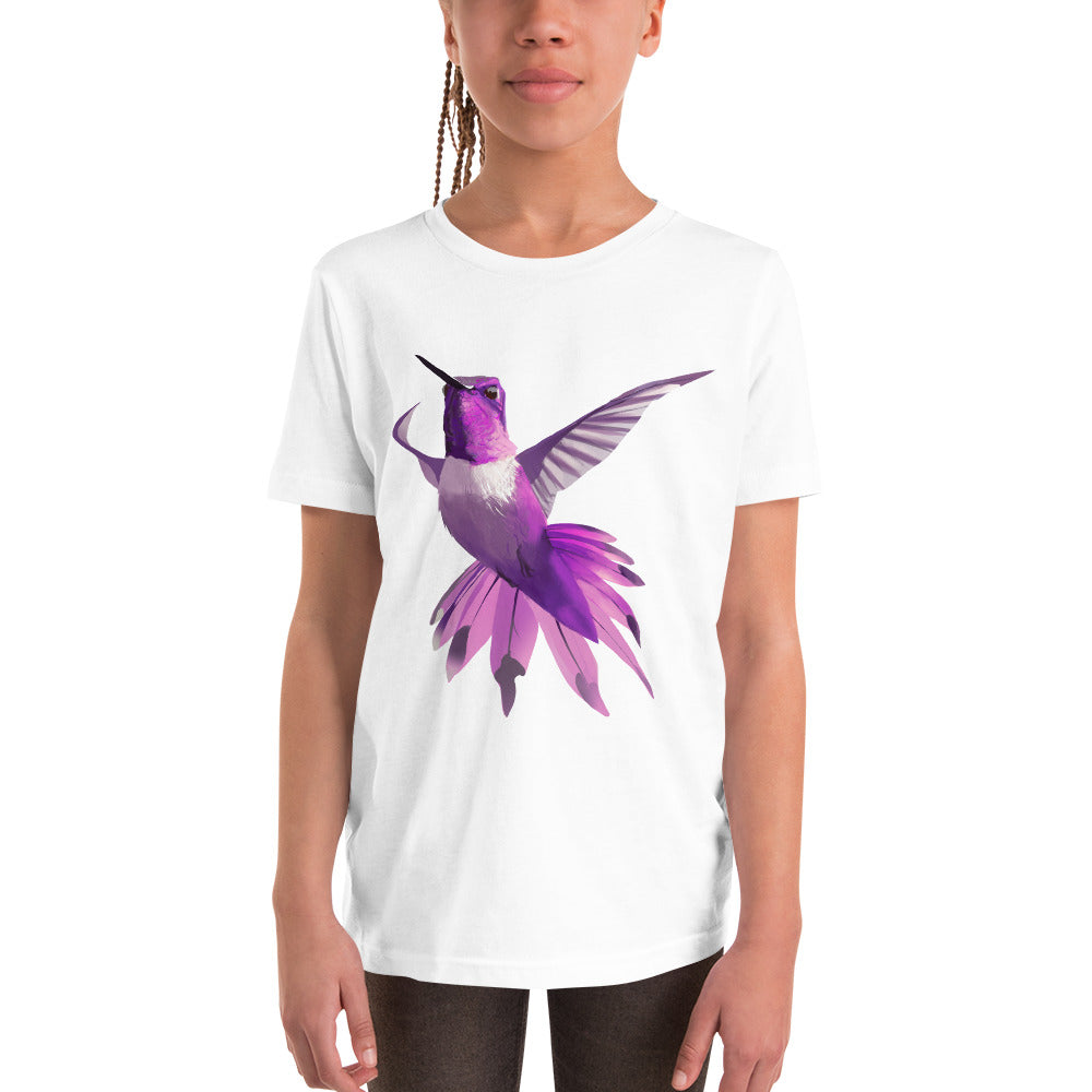 Hummingbird Magenta - Youth Short Sleeve T-Shirt