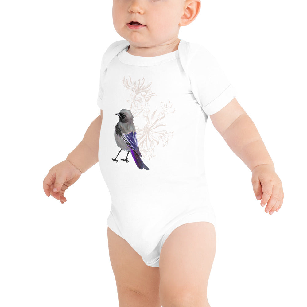 Junco Violet Bird - Baby Short Sleeve One Piece
