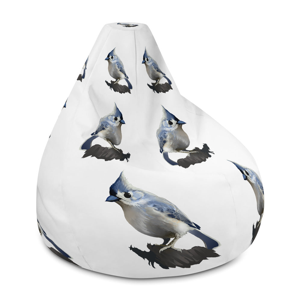 Bashful Tufted Titmouse - Bean Bag Chair w/ filling