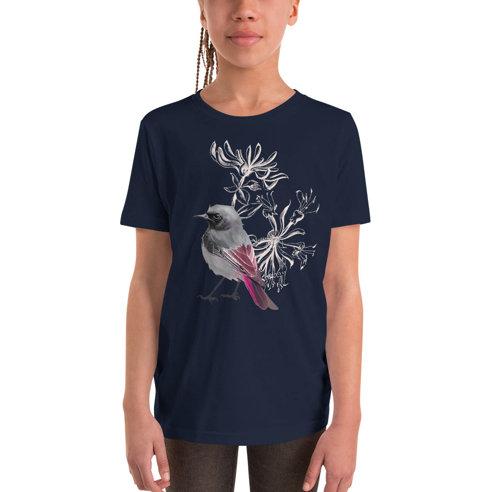 Junco Magenta Bird - Youth Short Sleeve T-Shirt