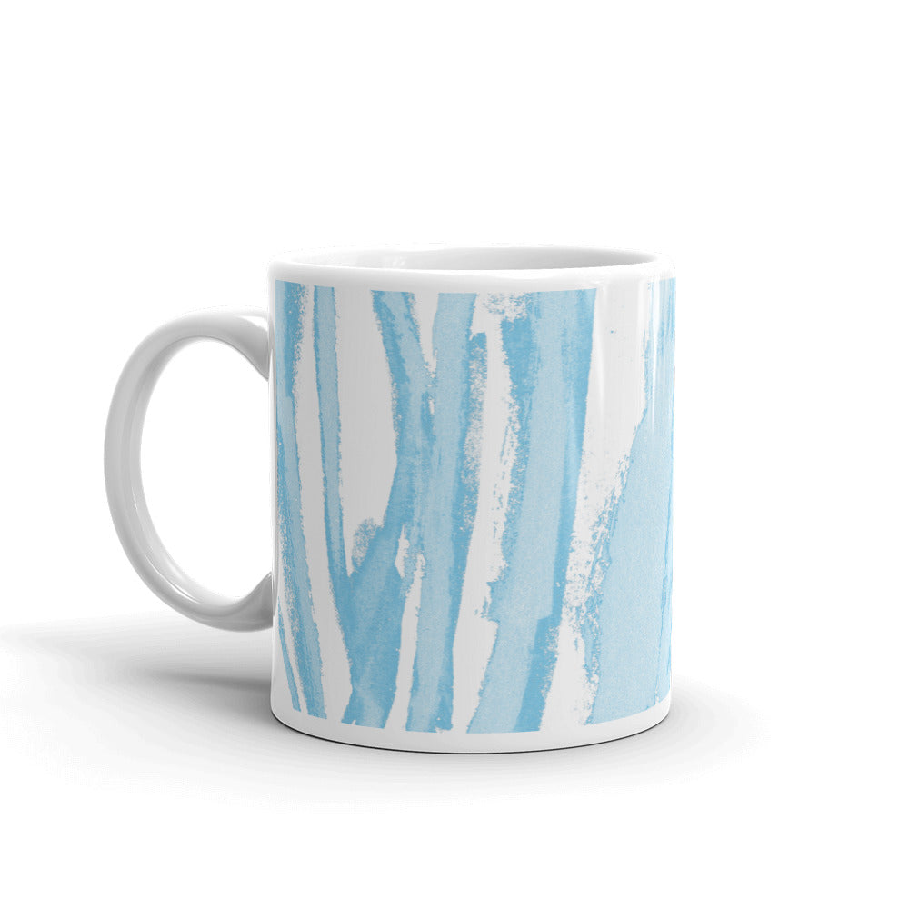 Zebra Blue Stripes - Mug