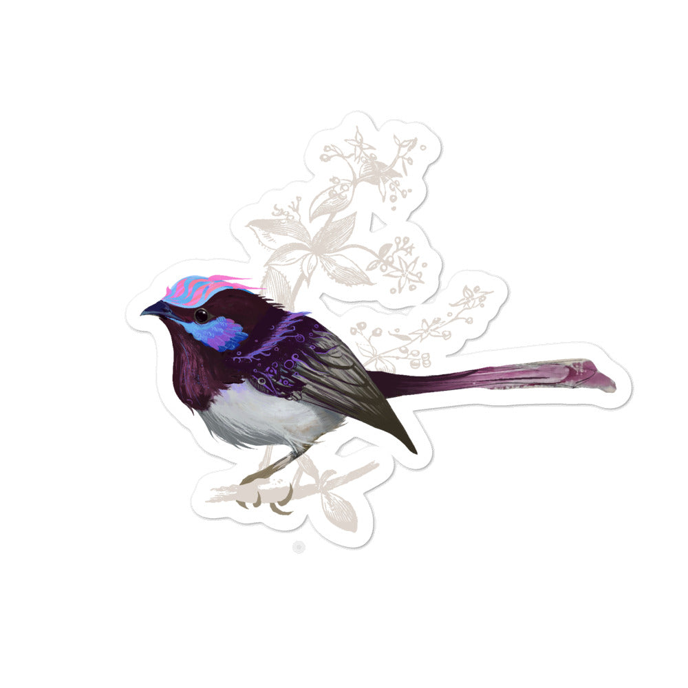 Forest Wren Pink Bird - Bubble-Free Stickers