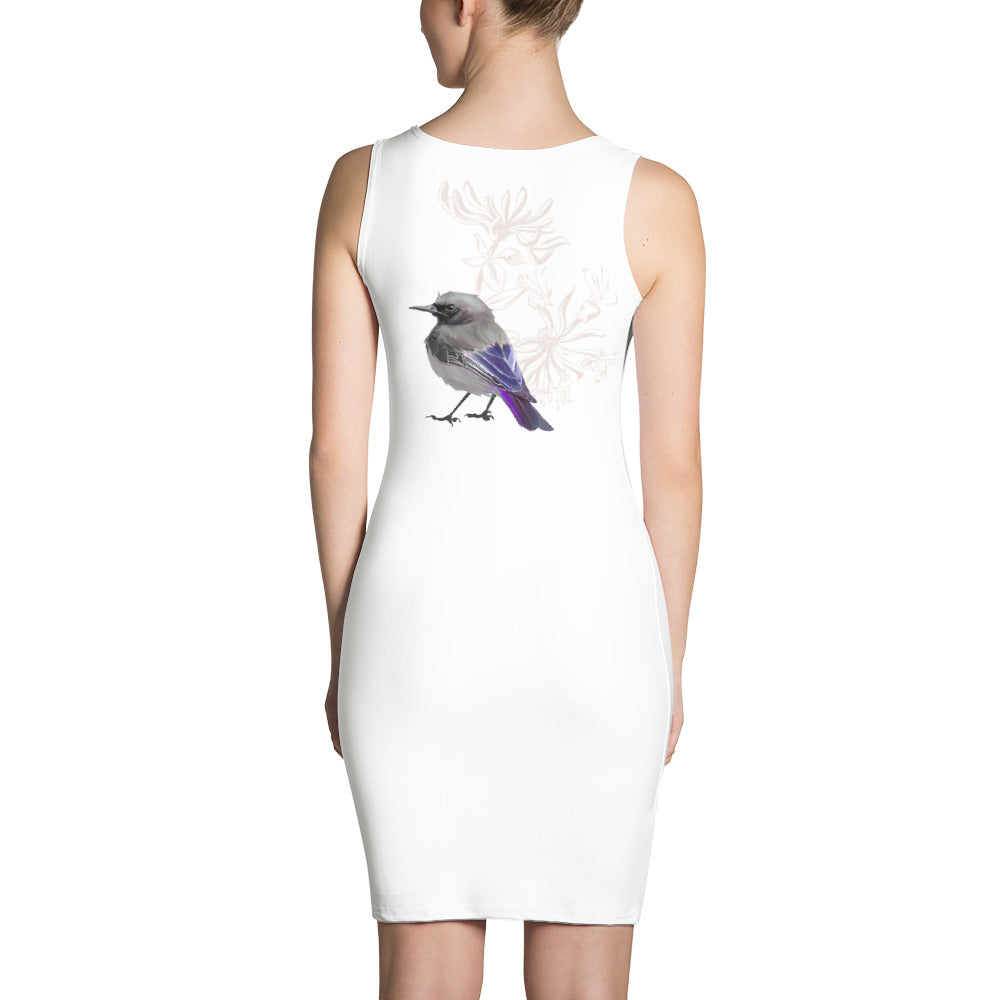 Junco Violet Bird - Sublimation Cut & Sew Dress