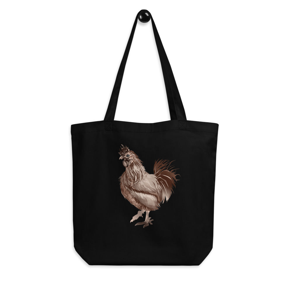 Rooster Strut (Brown) - Eco Tote Bag