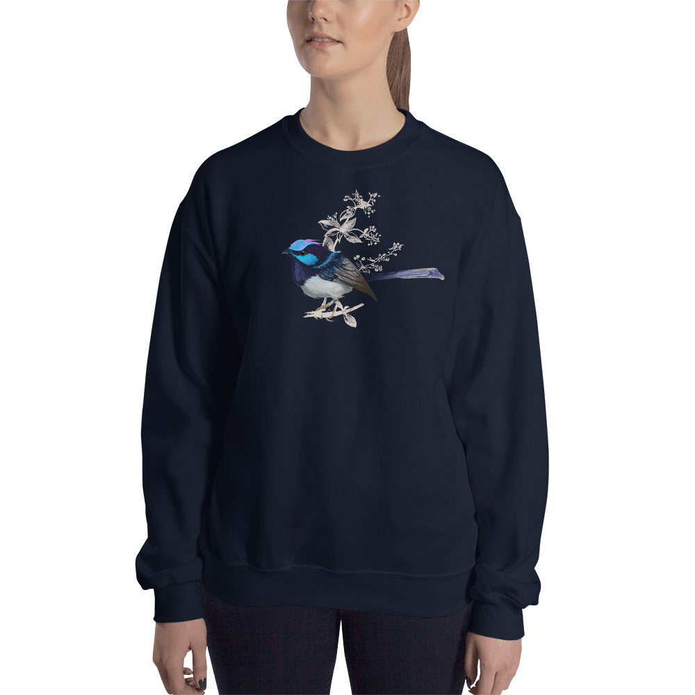 Forest Wren Blue Bird - Unisex Sweatshirt