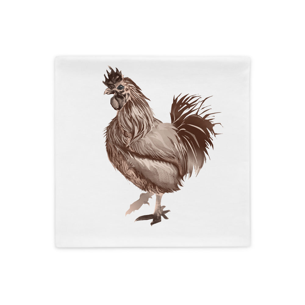 Rooster Strut (Brown) - Pillow Case
