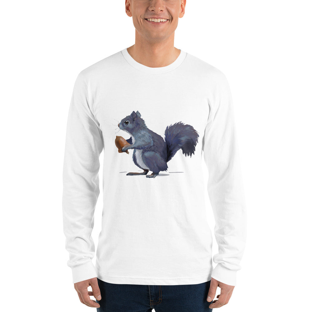 Squirrel (Gray) - Long sleeve t-shirt