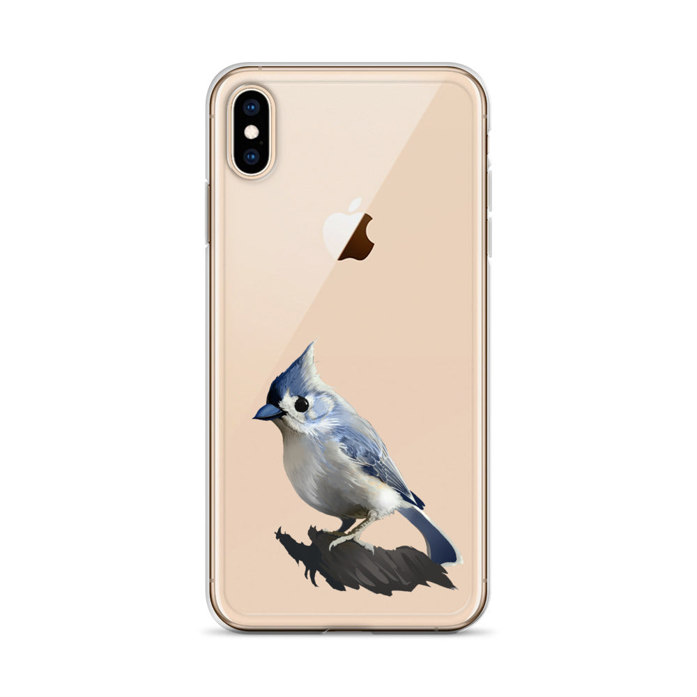 Bashful Tufted Titmouse - iPhone Case
