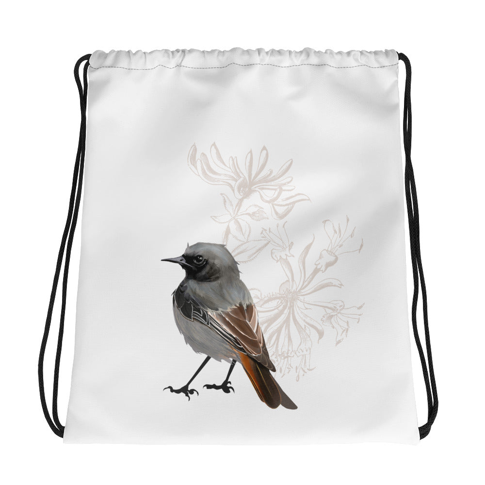 Junco Brown Bird - Drawstring Bag