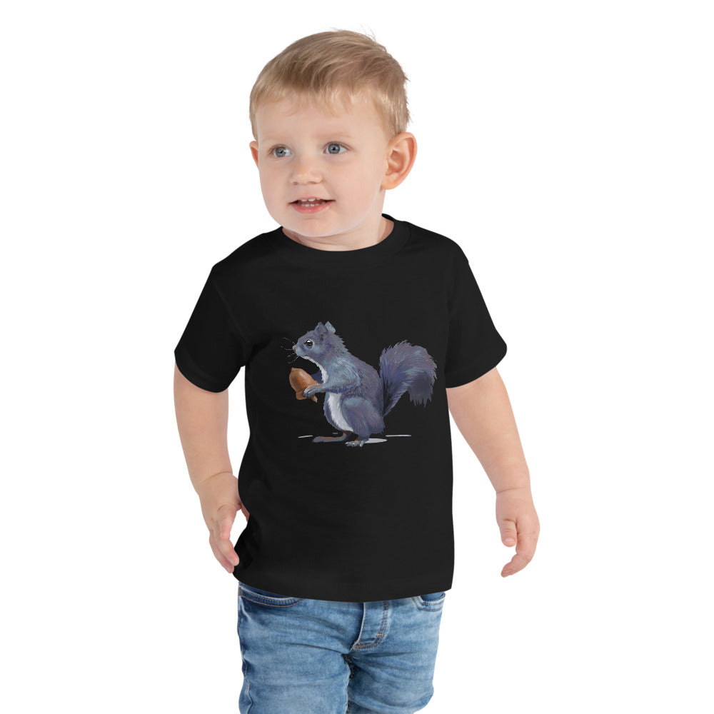 Squirrel (Gray) - Toddler Short Sleeve Tee