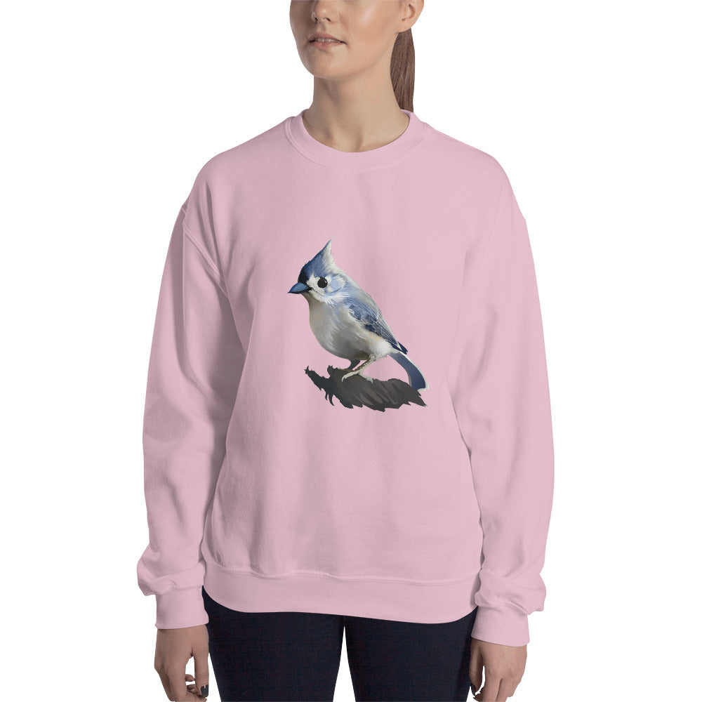 Bashful Tufted Titmouse - Unisex Sweatshirt
