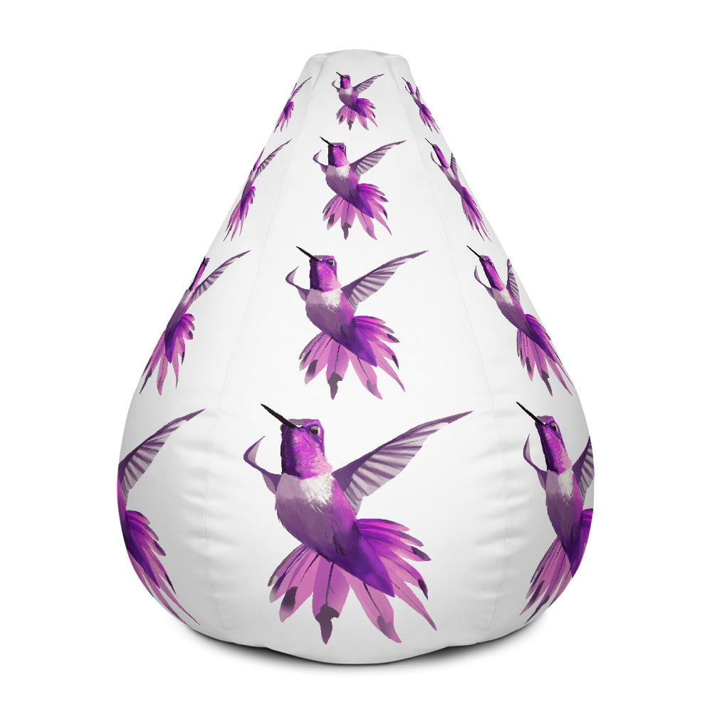 Hummingbird Magenta - Bean Bag Chair Cover