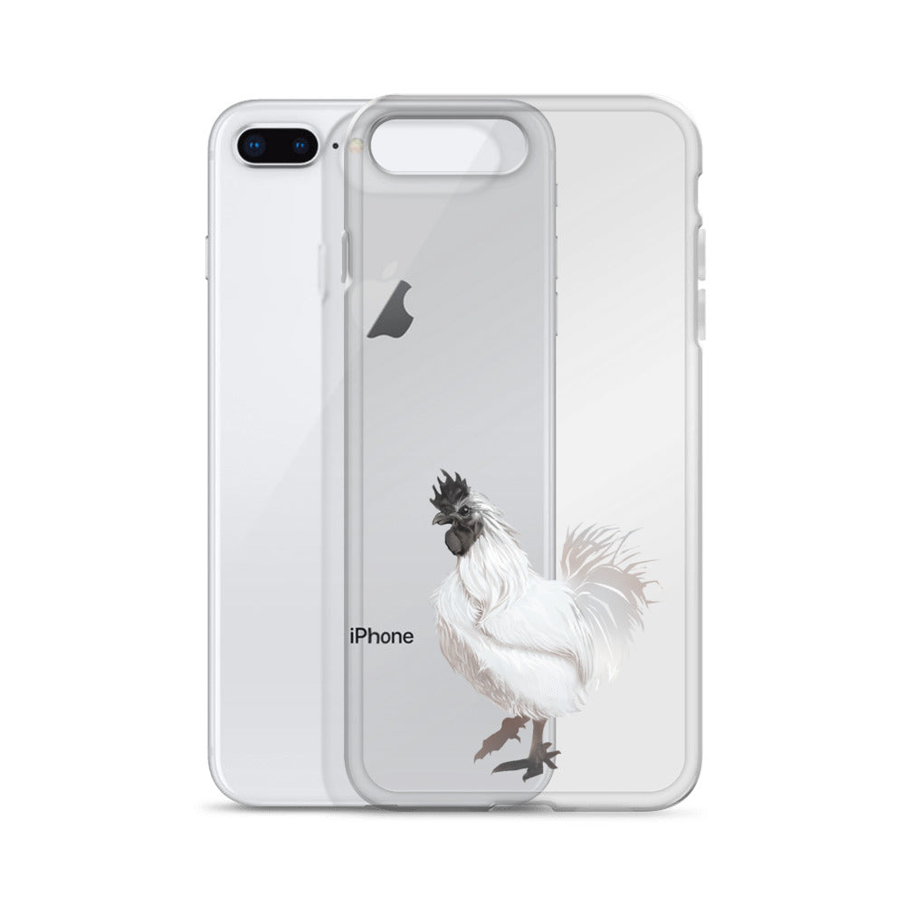 Rooster Strut (White) - iPhone Case