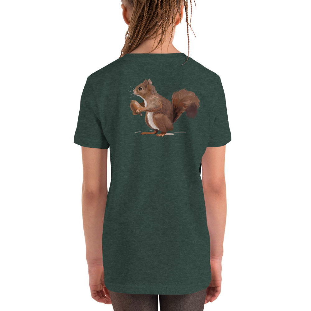 Squirrel (Brown) - Youth Short Sleeve T-Shirt