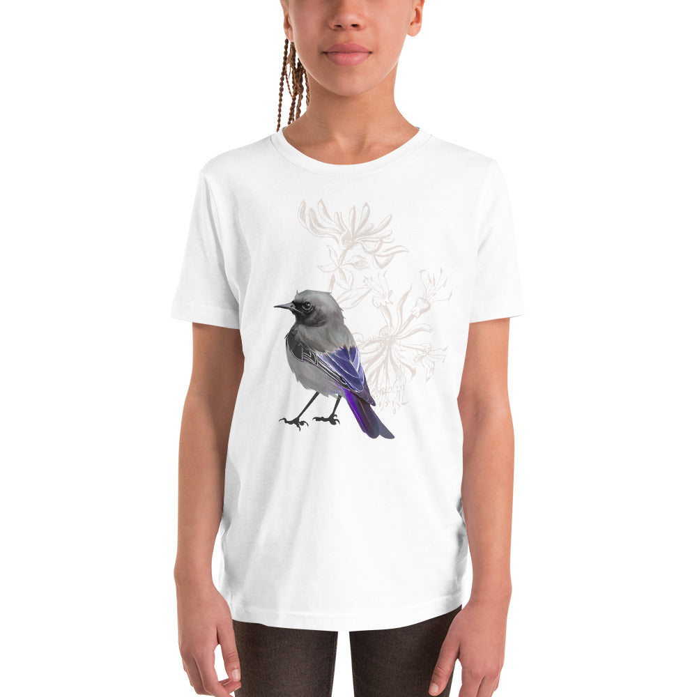 Junco Violet Bird - Youth Short Sleeve T-Shirt