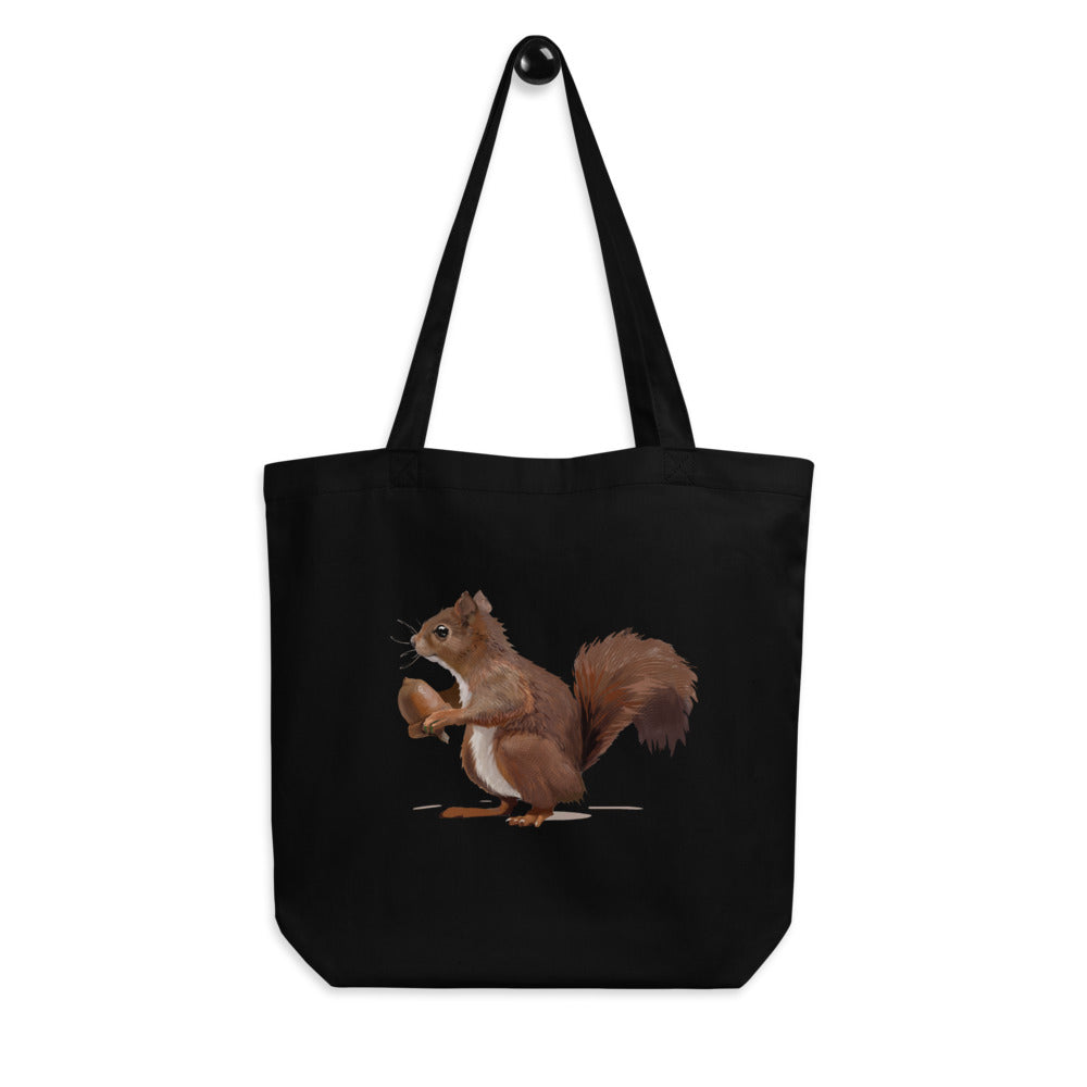 Squirrel (Brown) - Eco Tote Bag