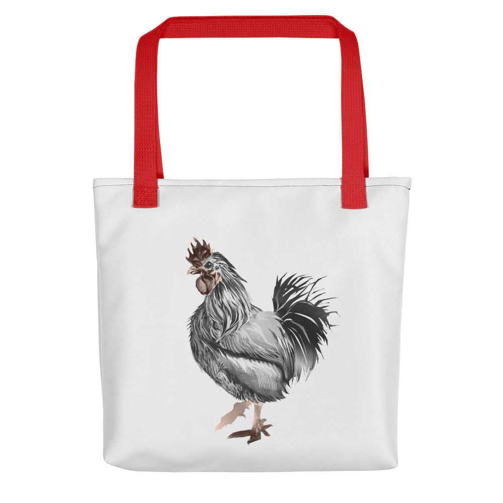 Rooster Strut (Silver) - Tote Bag