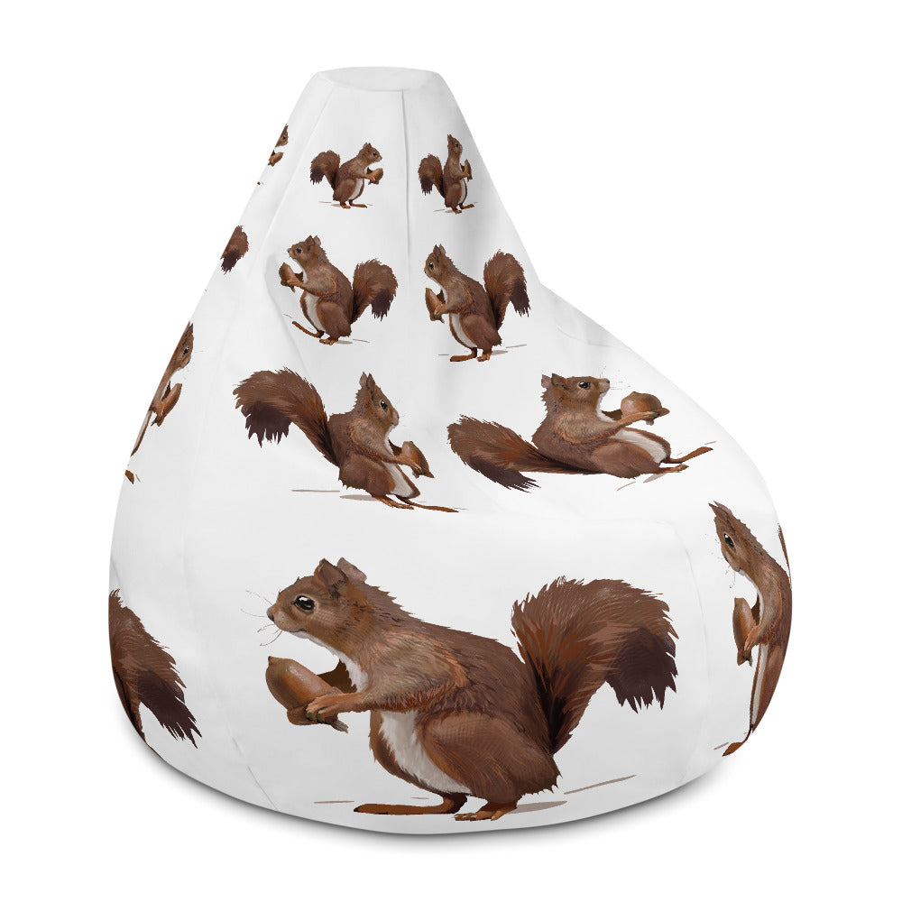 Squirrel (Brown) - Bean Bag Chair Cover