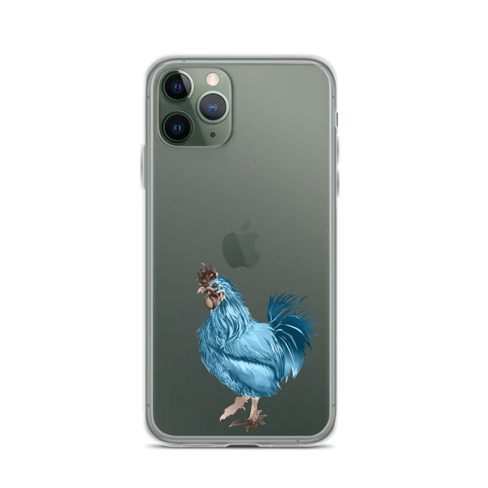 Rooster Strut (Blue) - iPhone Case