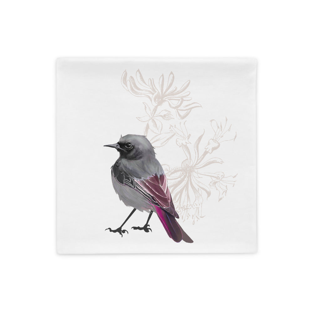 Junco Magenta Bird - Pillow Case