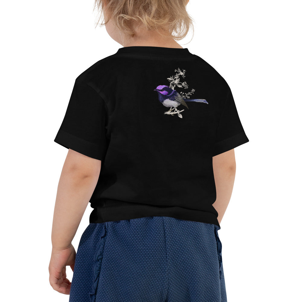 Forest Wren Magenta Bird - Toddler Short Sleeve Tee