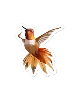 Hummingbird Orange - Bubble-Free Stickers