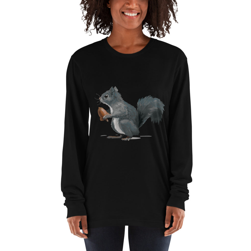 Squirrel (Ashley Gray) - Long sleeve t-shirt