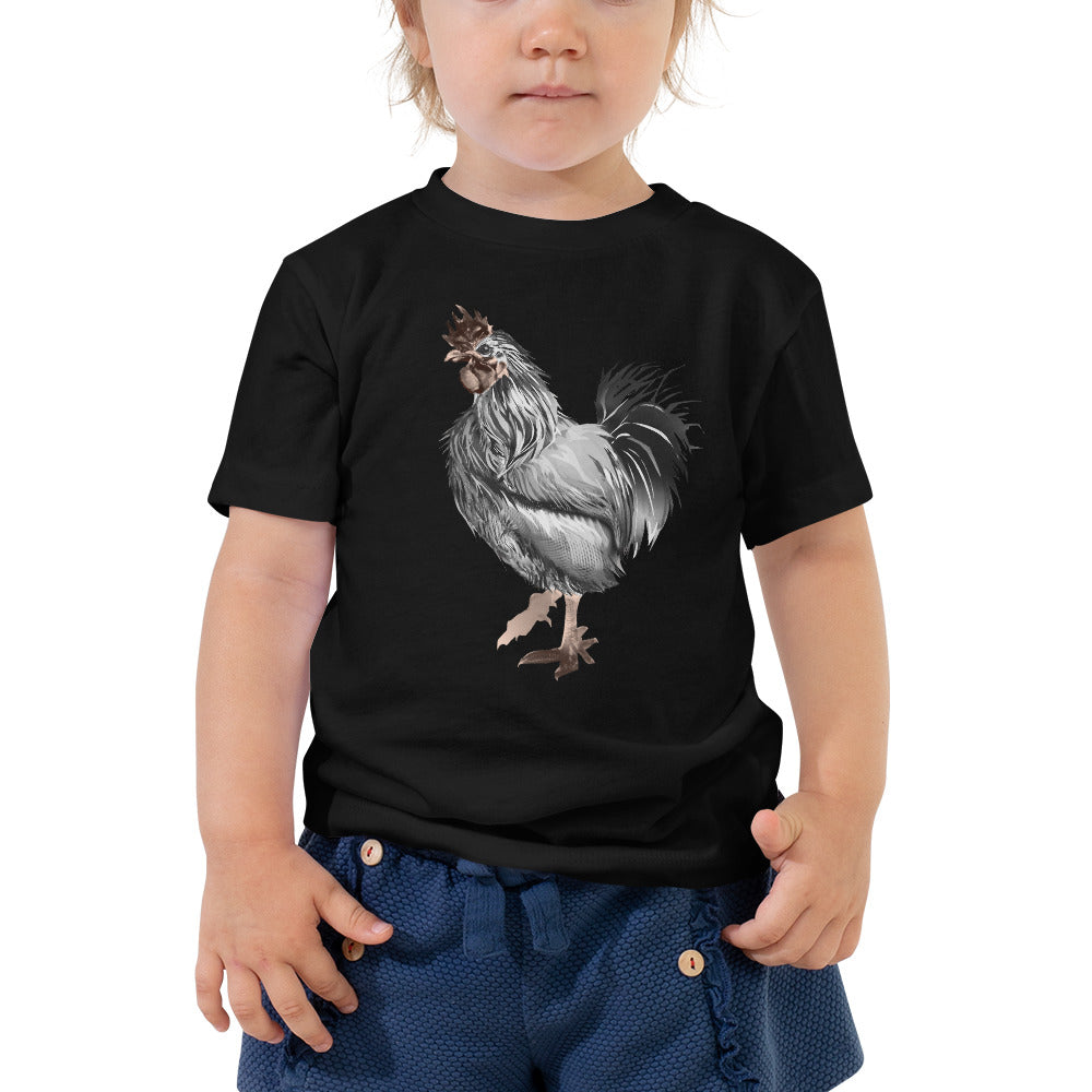 Rooster Strut (Silver) - Toddler Short Sleeve Tee