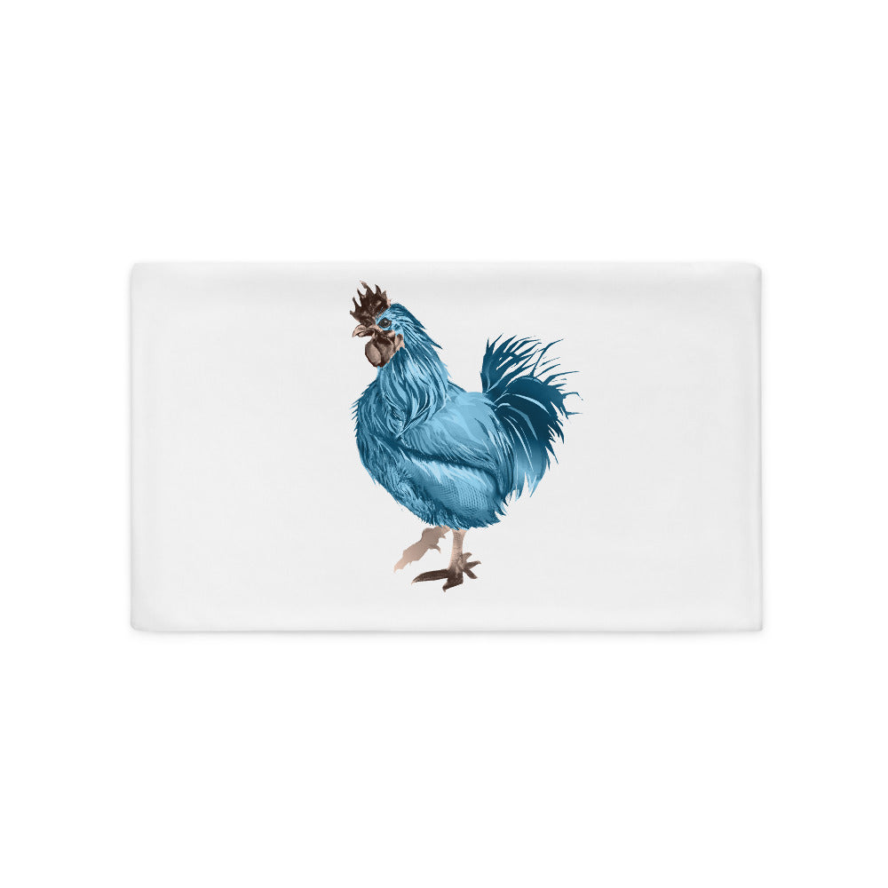 Rooster Strut (Blue) - Pillow Case