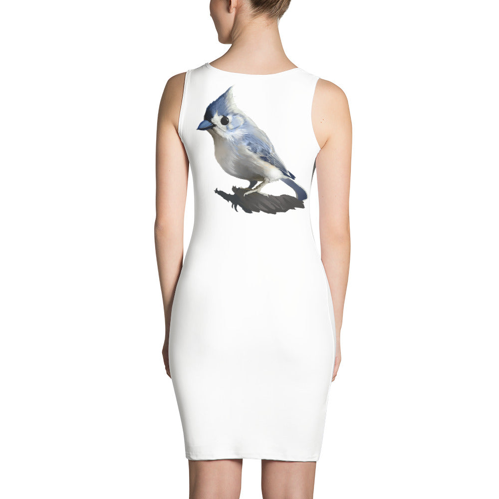 Bashful Tufted Titmouse - Sublimation Cut & Sew Dress