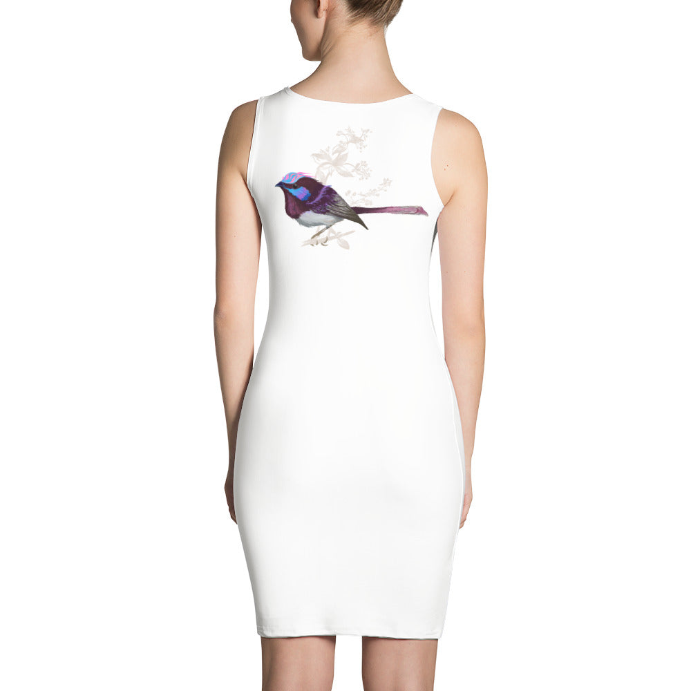 Forest Wren Pink Bird - Sublimation Cut & Sew Dress