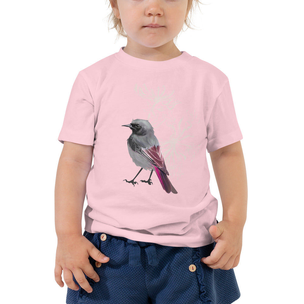 Junco Magenta Bird - Toddler Short Sleeve Tee