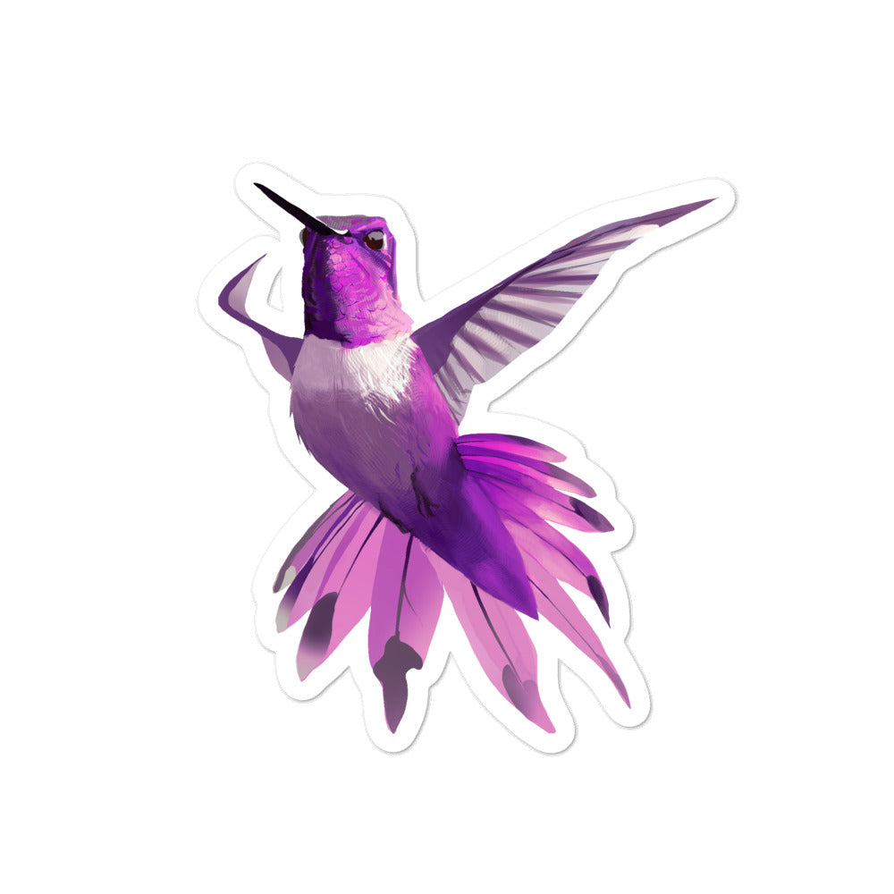 Hummingbird Magenta - Bubble-Free Stickers